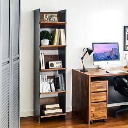 HB-40-5-Acacia   5-Shelf Bookcase