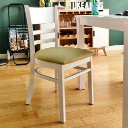 Cabin-White-C  Wooden Chair