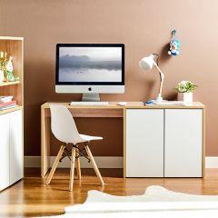 MIT-OAK-White  Kids Desk