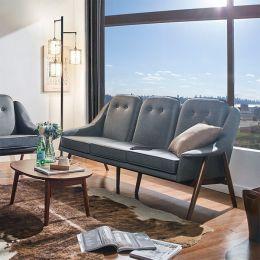 Camello-Grey  3-Seater Sofa