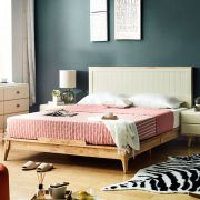 Rora-QB-Ivory Queen Panel Bed