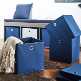 YK-0210011-Blue  Foldable Box