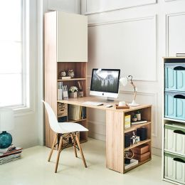 Alto-Oak  Desk w/ Bookcase
