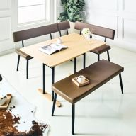A2356-D  Dining Set  (1 Table + 2 Chairs + 1 Bench)