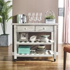 30434 2 Drawer Kitchen Cart
