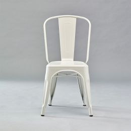 818C-Matt White  Metal Chair