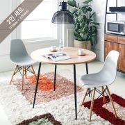 Spider-Oak  Cafe Table Set (1 Table + 2 Chairs)