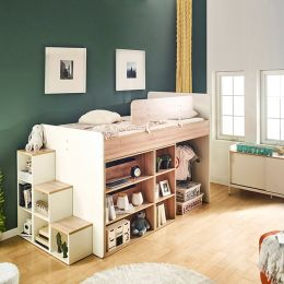 Harvard-B  Storage BUNKER Bed w/ Steps