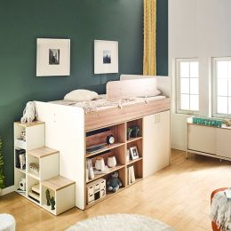 Harvard-D  Storage BUNKER Bed w/ Steps