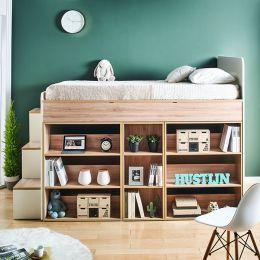 Harvard-F  Storage BUNKER Bed w/ Steps