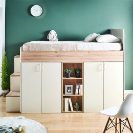 Harvard-E  Storage BUNKER Bed w/ Steps