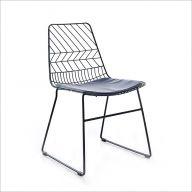 5015B-Black  Metal Chair