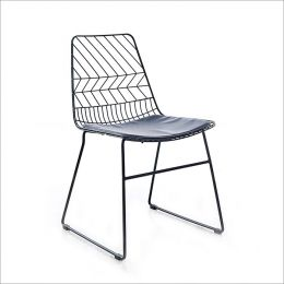 5015B-Black  Metal Chair