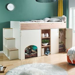 Harvard-K  Storage BUNKER Bed w/ Steps