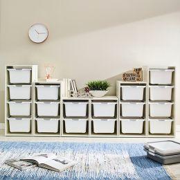 Melody-Wht-FW  Storage Box  (6 Pcs)
