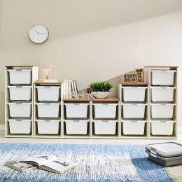 Melody-Oak-FW  Storage Box  (6 Pcs)