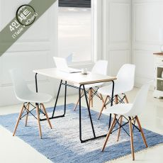 R-IK-Small-Blk-Ivy-4C  Dining Set