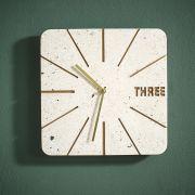 3XXFA18055 Wall Clock  (Stone Base)