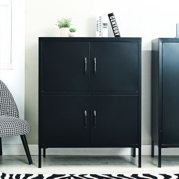 LLC-53-Black  Metal Cabinet