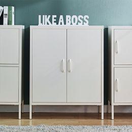 LLC-54-White  Metal Cabinet