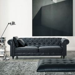 Charlie-PU-Grey  3-Seater Sofa