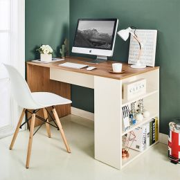Clare-Oak Desk w/ Storage
