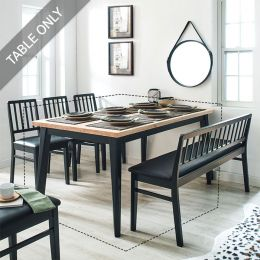 Miso-6-Black  Dining Table (6인용)