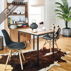 SSD-800-2BB-B Dining Set  (2인용)  (1 Table + 2 Chairs)