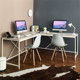 L-Ivory-Zone Corner Desk