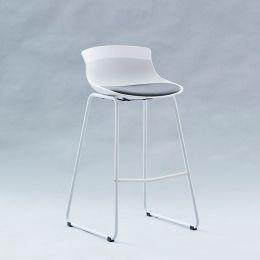 7-08SR-White  Bar Chair