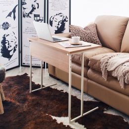 Mona-800-Ivy-Oak Sofa Desk  (H=65cm)
