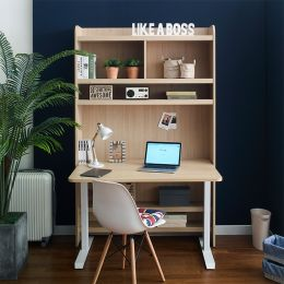 Newton-30-Maple Desk w/ Bookcase  (23t Top)
