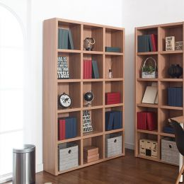 POP-Oak-120  Bookcase