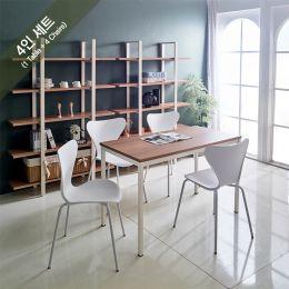 iK-12i-Oak-Emma-4 Dining Set(1 Table + 4 Chairs)