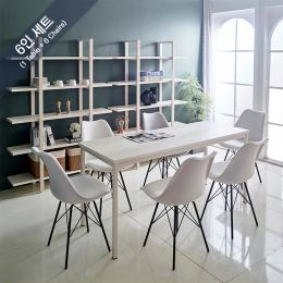 iK-16i-Ivy-Liva-6 Dining Set(1 Table + 6 Chairs)