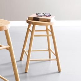 Uno-Natural  Wooden Stool