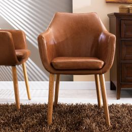 Nora-Brandy-PU  Accent Chair