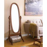 TP-6021W  Walnut Oval Mirror