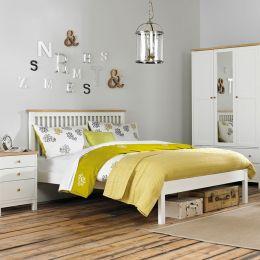 Atlanta-Two Tones Queen Bed w/ Slats