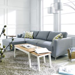 Avio-Grey  Sofa w/ Chaise Lounge