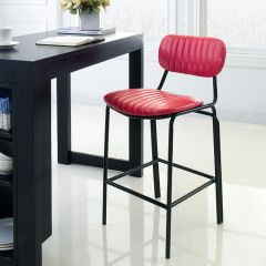 Veronica-Red-CTR  Bar Chair