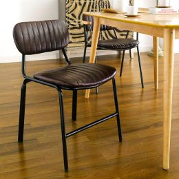 Veronica-Brown  Metal Chair