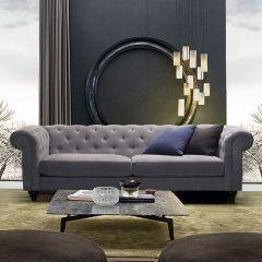 Charlietown-Grey  3-Seater Sofa
