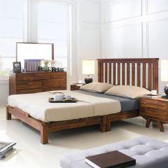 Coco-Q Bed Queen Bed  (Acacia 원목)