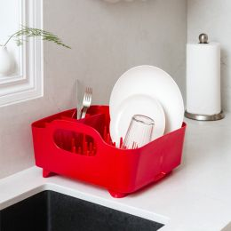 330590-505 Tub-Red Dish Rack