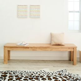 Ocean-Natural-LB  Long Wooden Bench  (L=180cm)