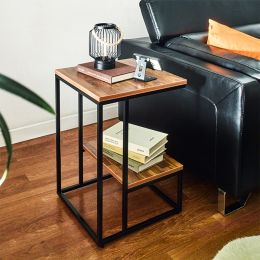 Lexi-Blk-Acacia  Side Table