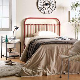 H9443-Burg-1100 Super Single Metal Bed