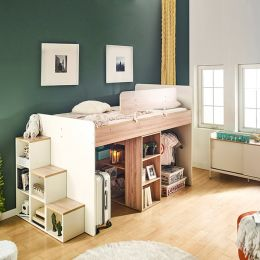 Harvard-A  Storage BUNKER Bed w/ Steps