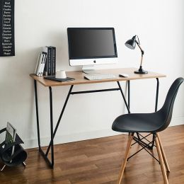 R-IK-Small-Blk-Oak-D Desk   +++No Bending Structure+++